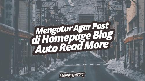 Cara Agar Posting Blogger Auto Read More Tanpa JavaScript