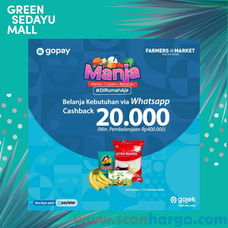 Farmer Market Green Sedayu Mall Promo Belanja Kebutuhan Via Whatsapp Order Cashback Rp 20.000