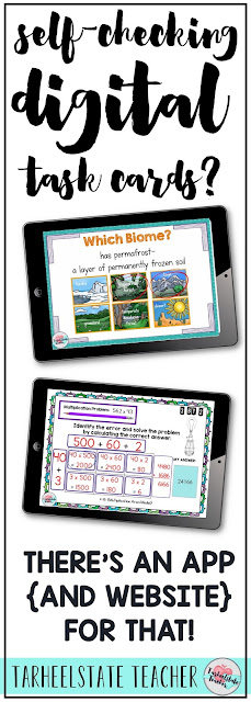 I have fallen fast for Boom Learning  and am in love with all of the cool features! Paperless, self-checking digital task cards? Yes, please! More ways to use my interactive whiteboard? Yes!!!! More ways to give students' feedback WITHOUT me having to do the checking?!?! ALL GOOD! Head to this post to learn what you need to know to get started with Boom Learning. If you are going 1 to 1, are a fan of Google Classroom or Google Apps, or need another way for your 3rd grade, 4th grade, or 5th grade students to use technology independently, this is the perfect app for you to check out!