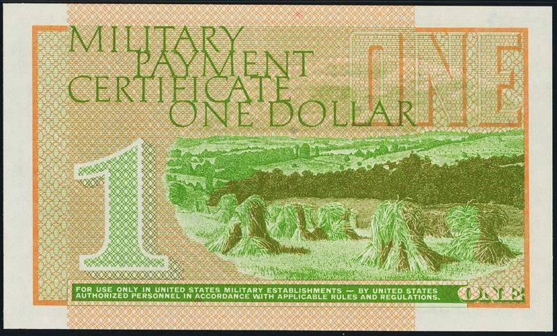 One Dollar Military Payment Certificate, Series 701