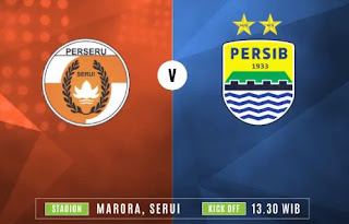 Susunan Pemain Perseru Serui vs Persib Bandung