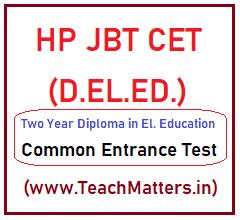 image: HP JBT CET 2021 D.El.Ed. 2021-23 @ TeachMatters