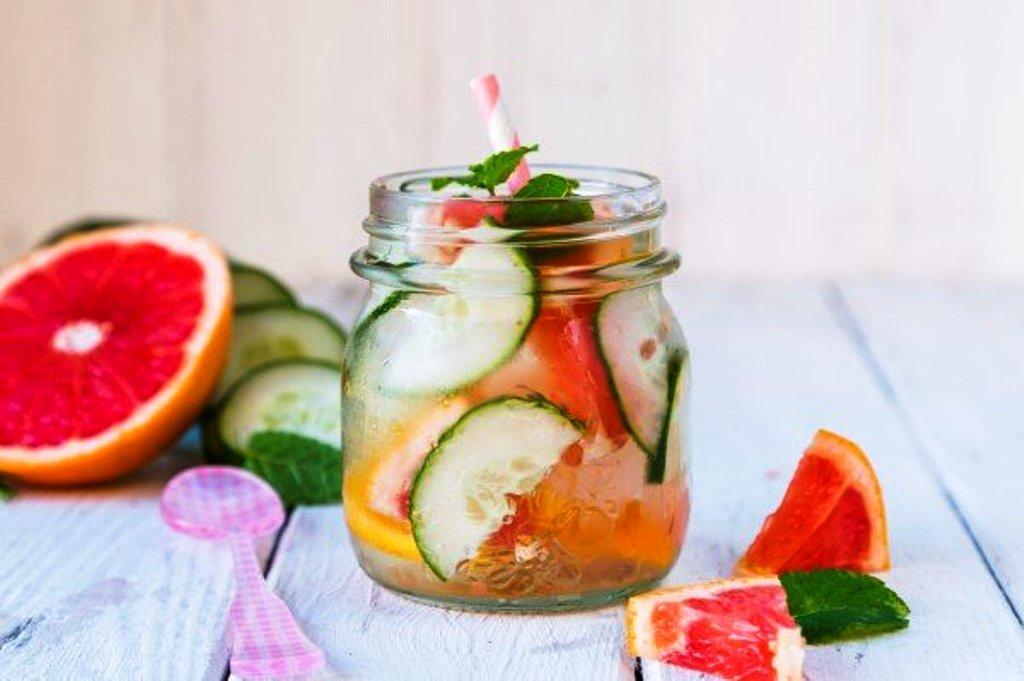 Emagrecer – Água Detox com Pepino, Limão e Toranja