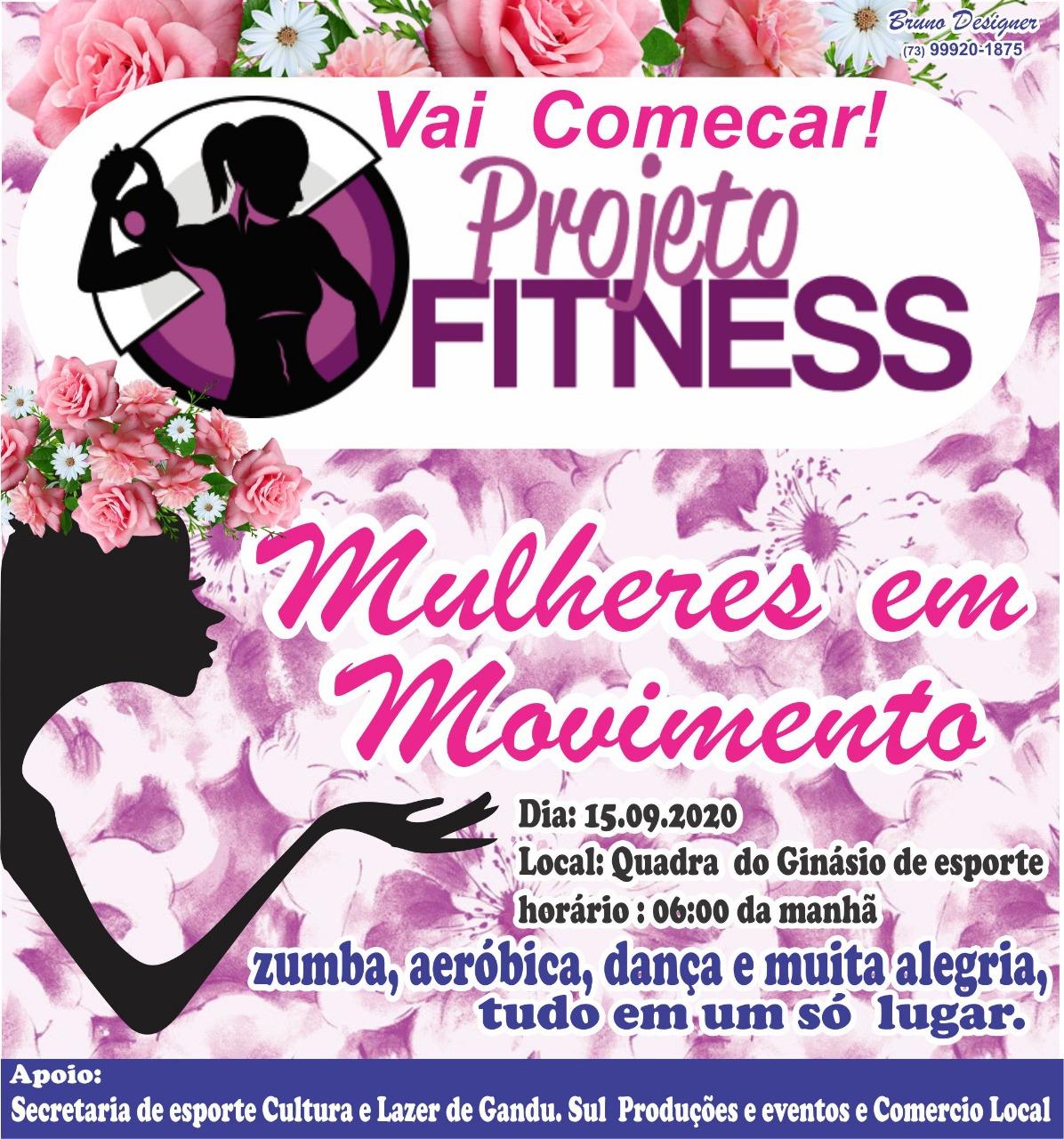 Vai começar o projeto fitness mulheres em movimento