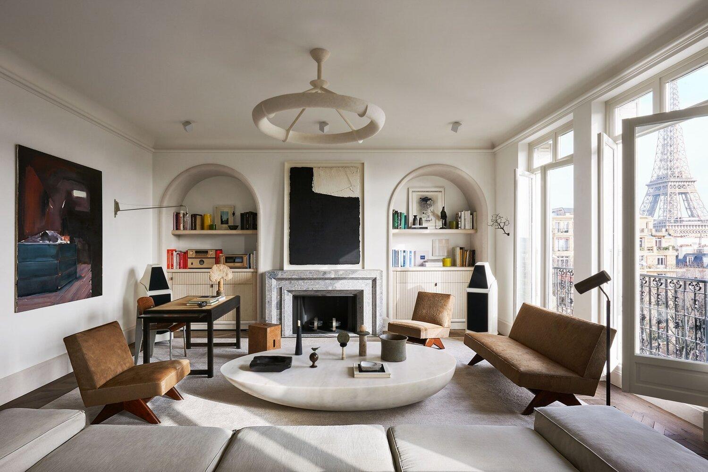 Joseph Dirand's Paris Apartment with Eiffel Tower View