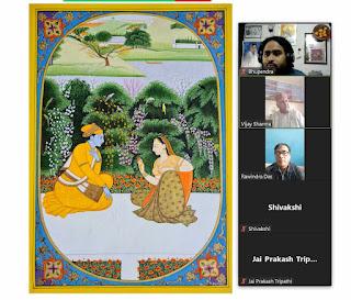 भारतीय शैलियों में बने चित्र मानवीय प्रेम की अभिव्यक्ति हैं | #NayaSaberaNetwork