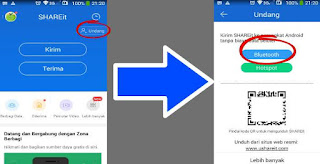 Cara Mengirim Aplikasi SHAREit Lewat Bluetooth dan Hotspot