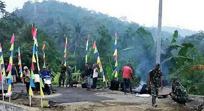 Nyaris Selesai Pembangunan Jalan TMMD di Rempoah