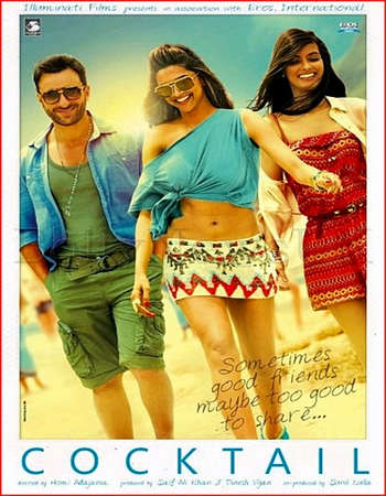 Poster Of Cocktail 2012 Hindi 600MB BRRip 720p ESubs HEVC Watch Online Free Download downloadhub.in
