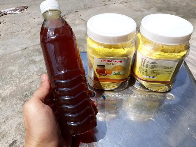 Tặng 500ml mật ong hoa nhãn nguyên chất khi mua 1kg tinh bột nghệ