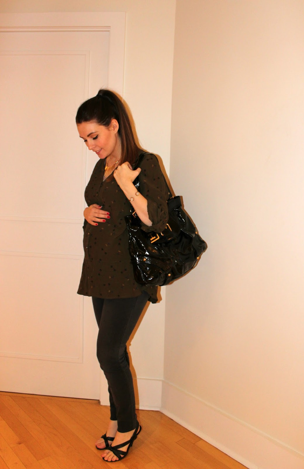 Maternity Jeans, Dooney & Bourke Handbag, Aldo Pumps