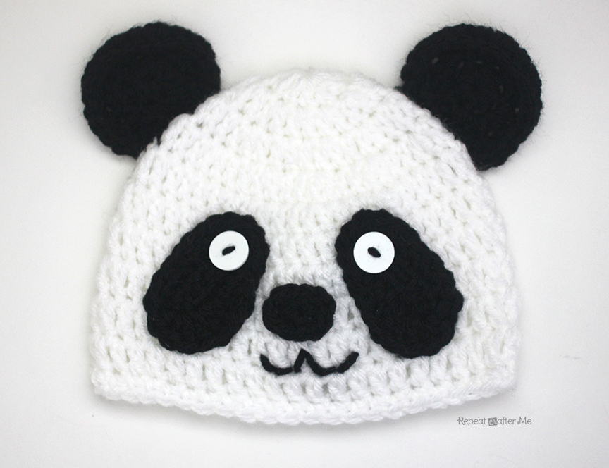 Crochet Panda Bear Hat Repeat Crafter Me
