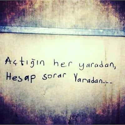 duvar yazısı, yara, Yaradan, güzel sözler, özlü sözler, anlamlı sözler,