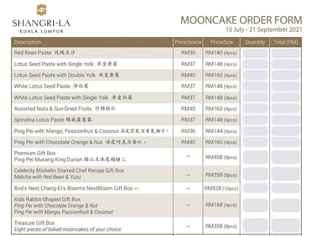 Over The Moon,  Shangri-La Kuala Lumpur, Exclusive Mooncake Review,  Mooncakes Price List, Over The Moon, Mooncake 2021, Food