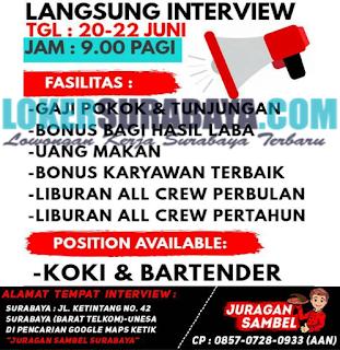 Langsung Interview di RM. Juragan Sambel Surabaya Terbaru Juni 2019