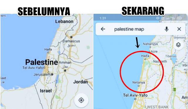 Nama Palestina Dihapus dari Google Maps, Warganet Geram