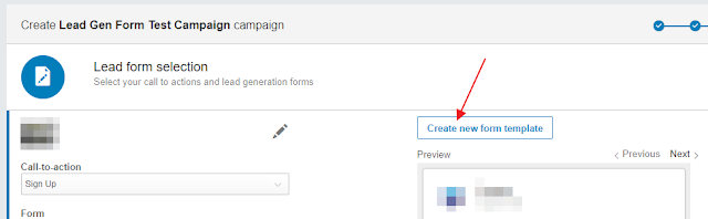 Linkedin Lead gen form template