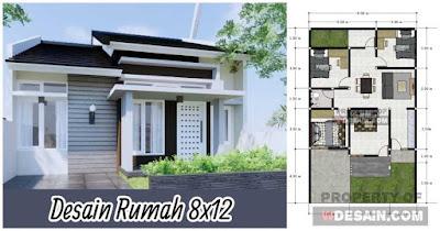 Sketsa Arsitek Rumah 8x12