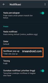 Notifikasi whatsapp tidak muncul
