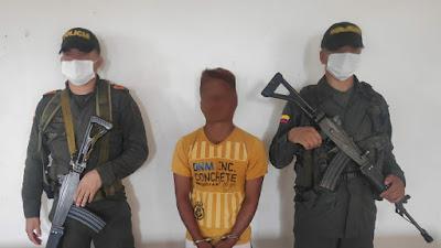 Por porte ilegal capturan a un sujeto en Bagadò