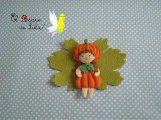 Hada-fieltro-Calabaza-Halloween-elbosquedelulu-felt-feltro-pumpkin