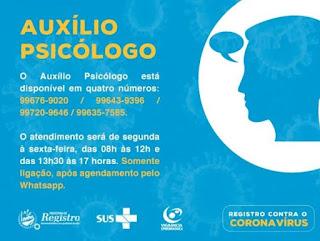 Saúde Municipal disponibiliza WhatsApp para agendar o atendimento psicológico