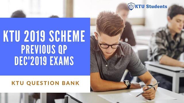 ktu 2019 scheme question paper