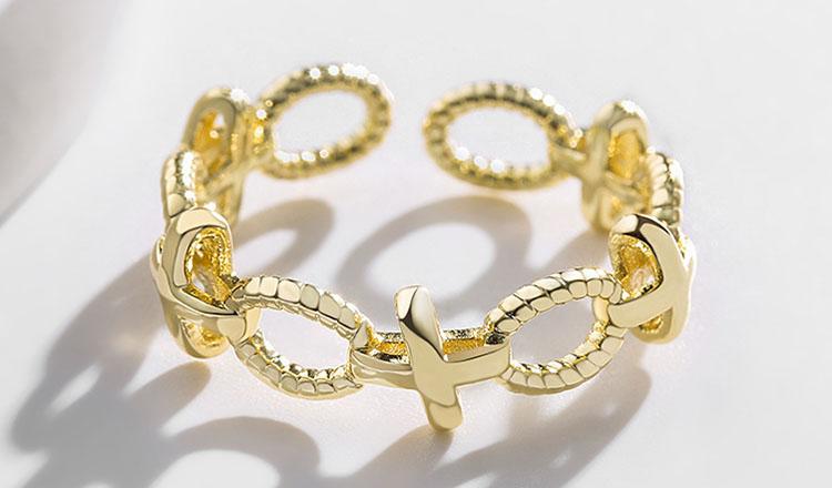 美麗的際遇黃銅合金開口戒