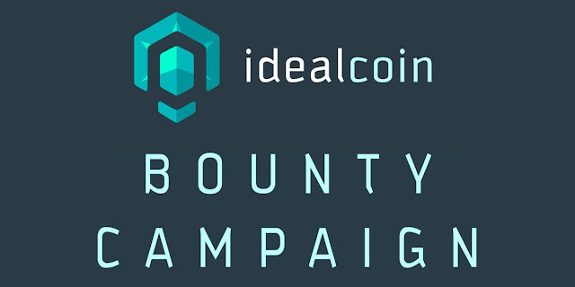 Idealcoin Airdrops and Bounty Campaign