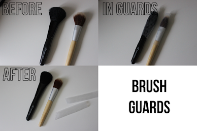 before and after of brushes with brush guard