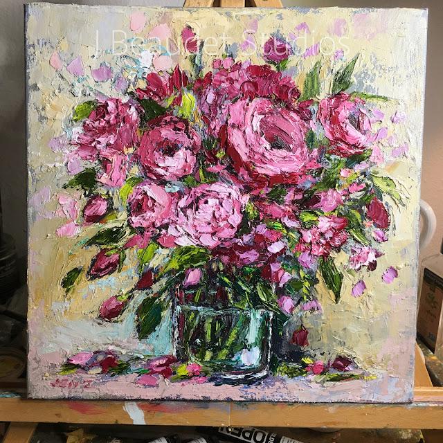 peonies painting by Jennifer Beaudet zondervan