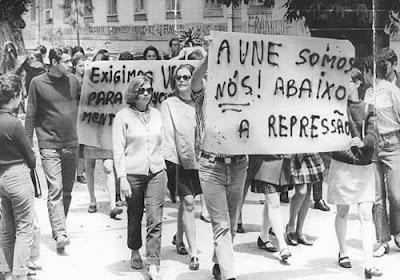 Resultado de imagem para protestos contra o regime militar