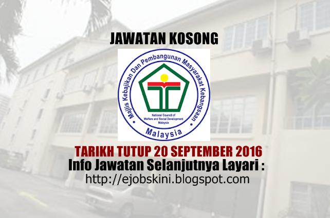 Jawatan kosong di makpem september 2016
