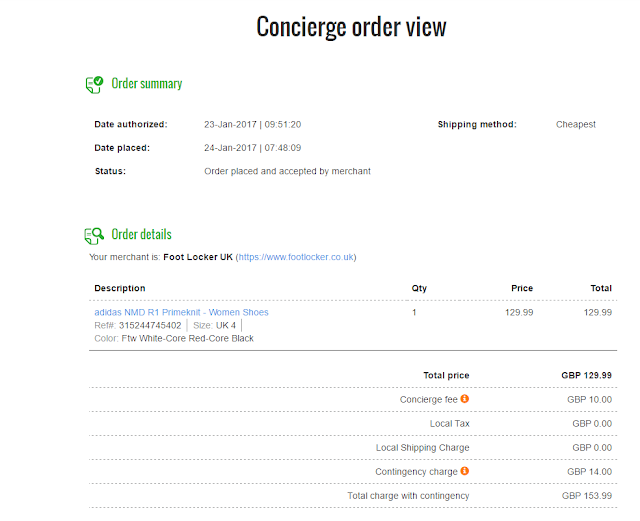 Borderlinx Concierge - Order Details