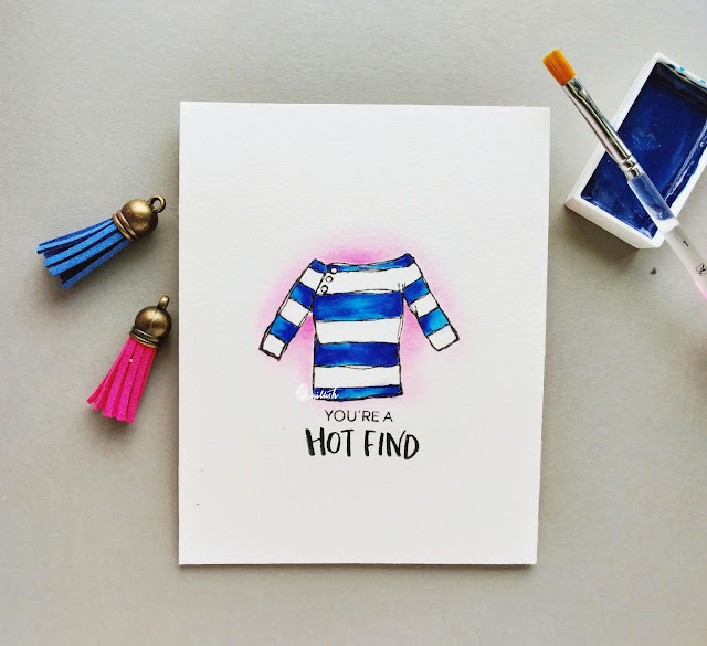 elizabeth craft design, Card for her, water colouring, gansai tambi watercolours, CAS card, CAS, Everyday cards, encouragement cards, distress inks, card for fashionista, card for girlfriend, card for bff, super easy card, card in 10 mins, cards by ishani, quillish,
