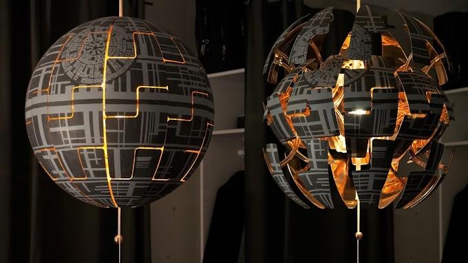 La espectacular lámpara estrella de la muerte de IKEA que incluso ¡Explota!