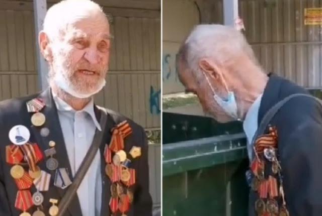 В Тюмени 92-летний ветеран копался в мусорке. Им оказался первооткрыватель нефти в ЯНАО. ВИДЕО