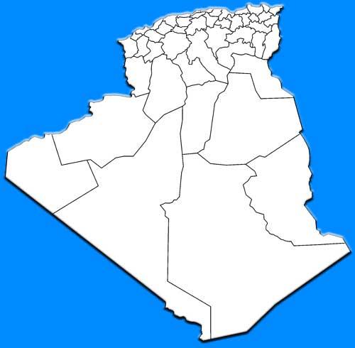 image; Algeria Map blank white