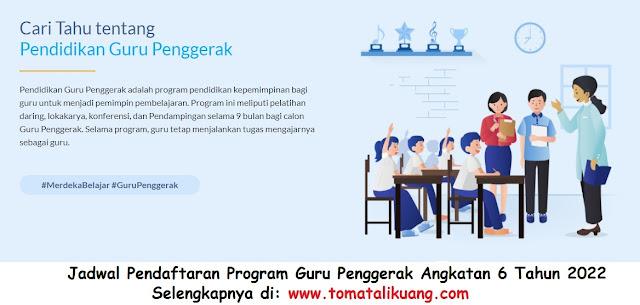 jadwal pendaftaran program guru penggerak angkatan 6 tahun 2021 kemendikbud tomatalikuang.com