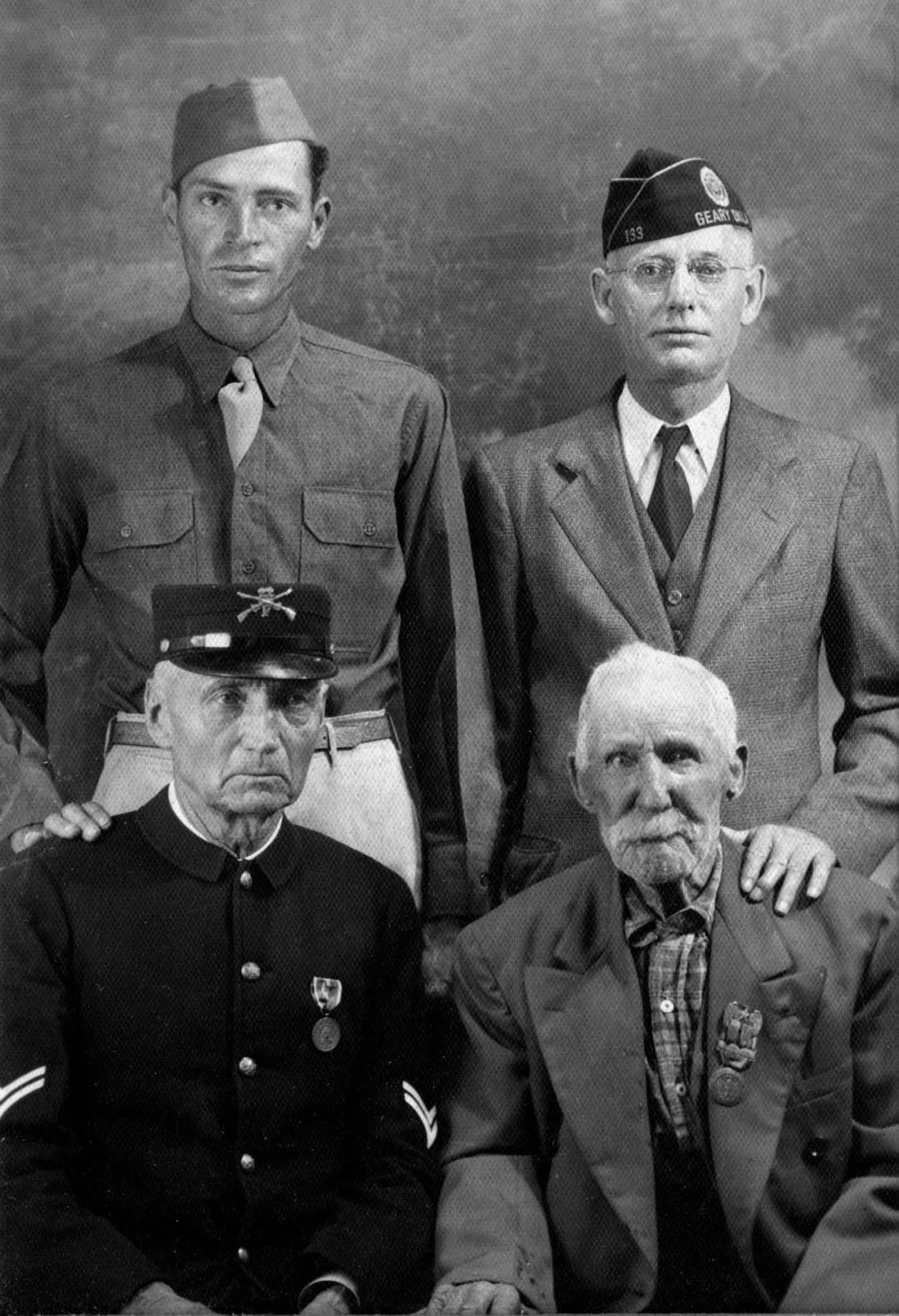 Four wars, four veterans, same town.