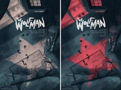 Universal Monsters The Wolf Man Screen Print by Jonathan Burton x Mondo