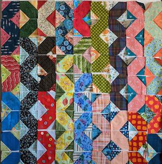 Blocks laid out as originally sewn