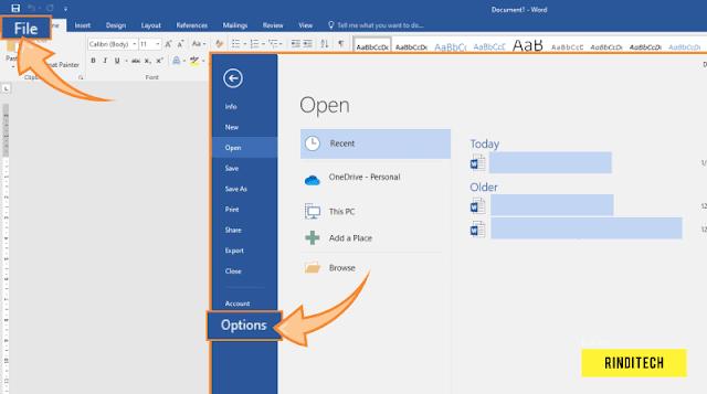 Cara Merubah Ukuran Inchi ke Centimeter di Microsoft Word