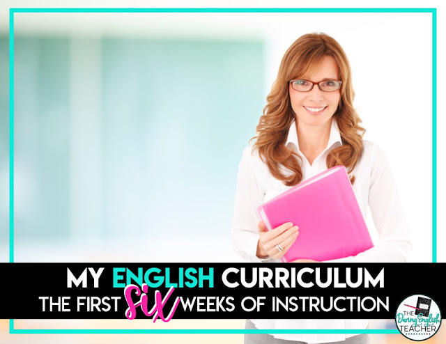 My English Curriculum: The First 6 Weeks