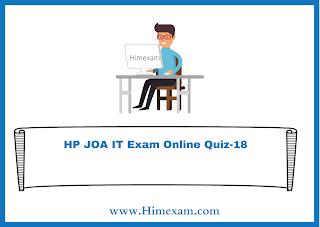 HP JOA IT Exam Online Quiz-18