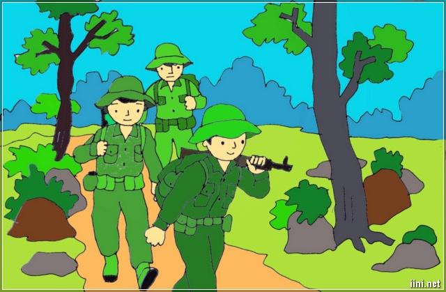 tranh vẽ về người Lính