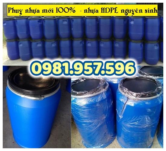 Phuy nhựa 200L, phuy nhựa đựng nước, phuy nhựa đựng dung môi