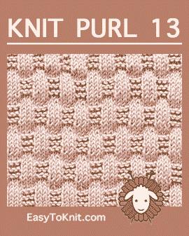 #Knit Basketweave stitch, Easy Knit Purl Pattern #easytoknit