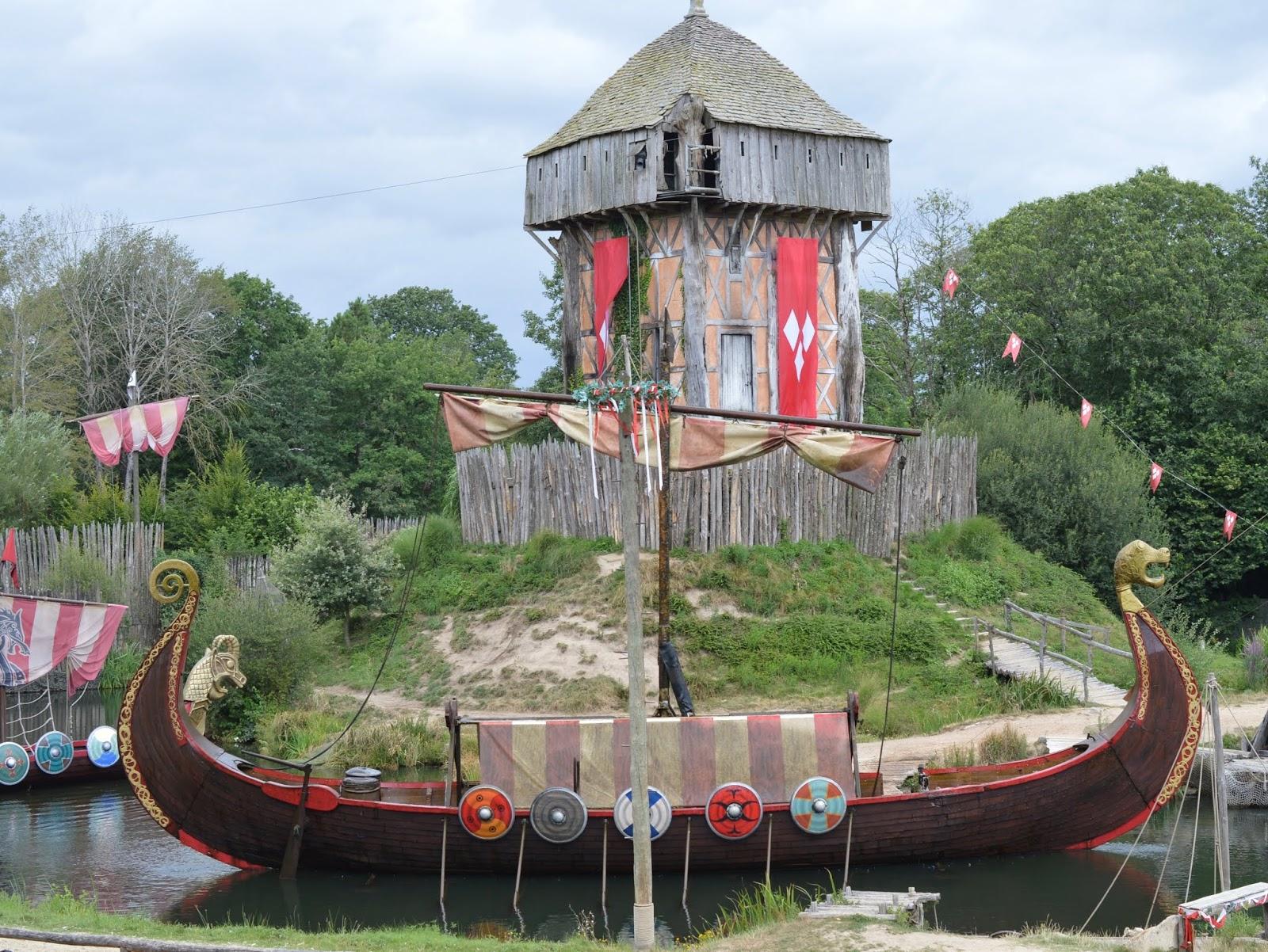 Puy du Fou Theme Park, France - - viking longboat