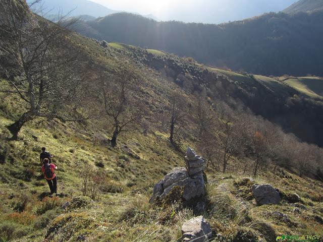 Camino al Collado Ovia desde el Carriá